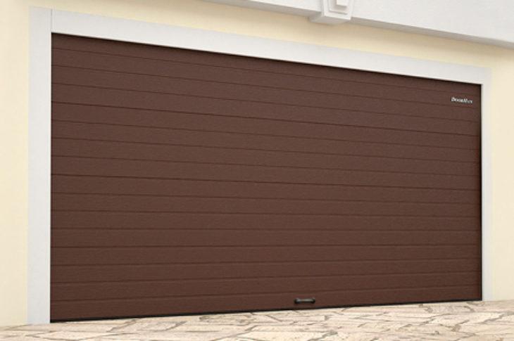 Гаражные секционные ворота стандартных размеров с пружинами растяжения
