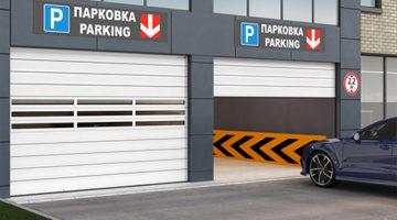 Промышленные скоростные секционные ворота с торсионным механизмом